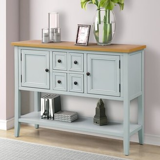 "Breakwater Bay Coggrey 46"" Wide 4 Drawer Sideboard Color: Lime White"