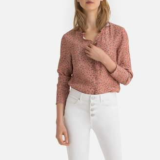 La Redoute Collections Floral Print Ruffled Blouse