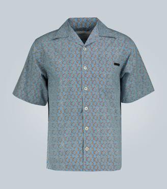 Prada Chain print cotton poplin shirt