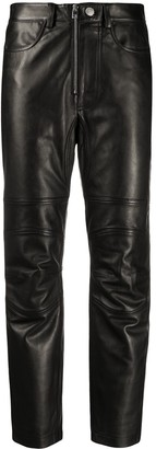 Zadig & Voltaire Straight-Leg Leather Trousers