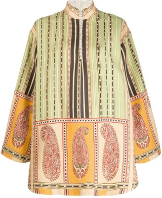 Etro Paisley Print Detailed Mini Dress