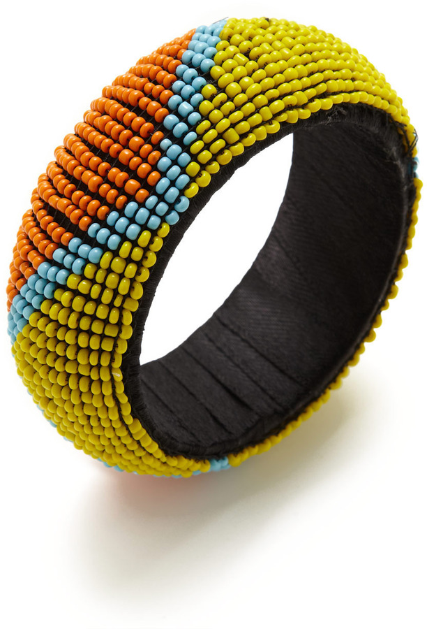 RJ Graziano Multicolor Beaded Zig Zag Bangle