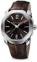 Bvlgari Octo Roma Stainless Steel & Brown Alligator Watch