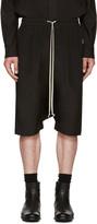 Rick Owens Black Silk Pods Shorts