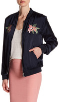 Romeo & Juliet Couture Floral Embroidered Bomber Jacket