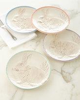 Juliska Bunny Party Plates, Set of Four