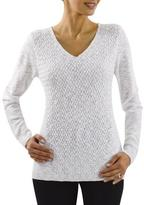 Haggar Women's 'Modern Edge' V-Neck Basketweave Sweater