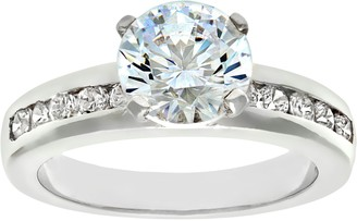 Citerna Silver Cubic Zirconia Engagement Ring with Cubic Zirconia shoulders H