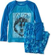 L.L. Bean Boys' Jersey-Knit PJs, Raglan-Sleeve