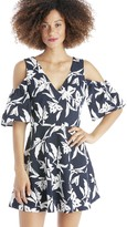 Sole Society Floral Print Cold Shoulder Dress