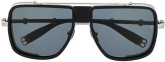 Balmain Eyewear x Akoni side shield sunglasses