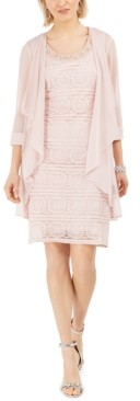 R & M Richards Lace Dress & Jacket