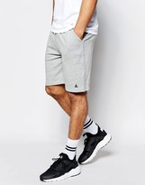 Asos Jersey Shorts In Grey Marl With Embroidery