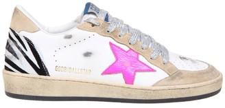 Golden Goose Ballstar Sneakers In White Leather