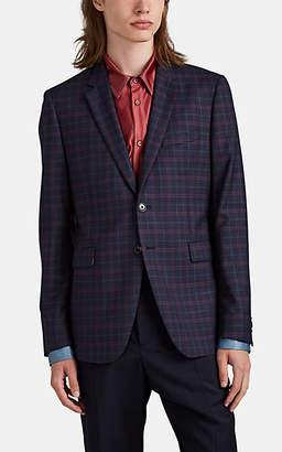 Paul Smith Men's Kensington Plaid Wool Two-Button Sportcoat - Navy