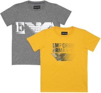 Emporio Armani Kids Set of 2 cotton T-shirts