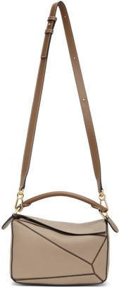 Loewe Taupe Small Puzzle Bag