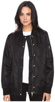 Blank NYC Black Bomber Jacket in Super Freak Women's Coat