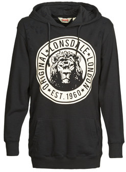 Lonsdale London ELSHAM women's Sweatshirt in Black