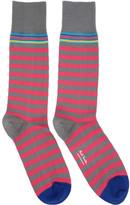 Paul Smith Pink & Grey Two Stripe Socks