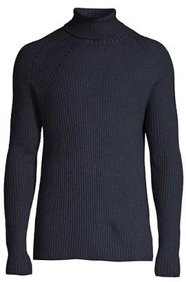 Corneliani Jacquard Wool Turtleneck Sweater