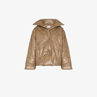 Nanushka hide vegan leather puffer jacket