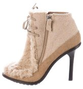 Derek Lam 10 Crosby Shearling Round-Toe Ankle Boots