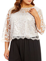 Marina Plus Sequined Lace Crop Top