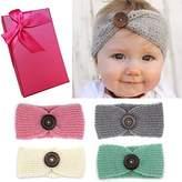 Elesa Miracle Baby Hair Accessories Baby Girl's Gift Box with Knit Crochet Turban Headband Winter Warm Headband