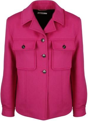 Saint Laurent Short Coat In Wool And Cashmere