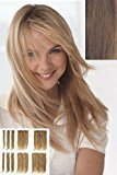 "Pop Beauty 10 pc 14"" Human Hair Extensions by Put On Pieces ,Light Reddish Brown"