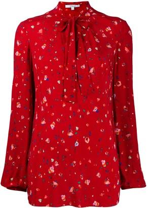 Derek Lam 10 Crosby Evadne Splatter Floral Blouse