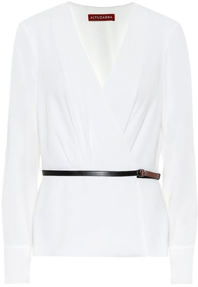 Altuzarra Erika belted blouse