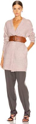 Acne Studios Raya Short Mohair Cardigan in Powder Pink | FWRD