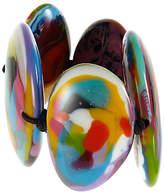 Jackie Brazil Kandinsky Large Flat Riverstone Stretch Bracelet, Multi
