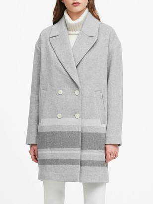 Banana Republic Petite Oversized Wool-Blend Coccoon Coat