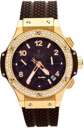 Hublot Chocolate 18K Rose Gold Diamond Big Bang Cappuccino 341.PC.1007.RX.114 Men's Wristwatch 41 mm