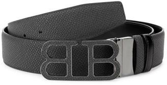 Bally Iconic Buckle Britt Reversible Leather Belt