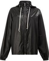 Rick Owens hooded jacket - women - Cotton/Sheep Skin/Shearling/Cupro - 38