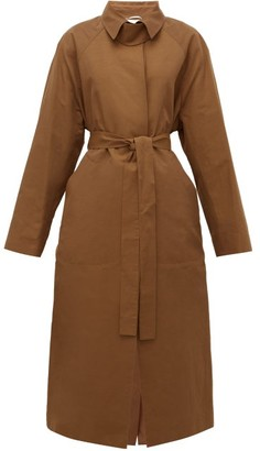 Rochas Duchesse Belted Trench Coat - Rust Copper