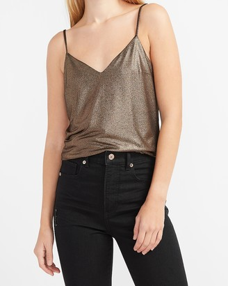 Express Metallic V-Neck Downtown Cami