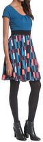 Plenty by Tracy Reese Patterned Fit-and-Flare Dress