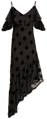 Maria Lucia Hohan Raine Polka-dot Asymmetric Dress - Black