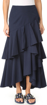 Alice + Olivia Martina Asymmetrical High Low Ruffle Skirt