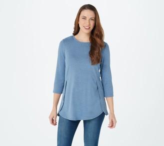 Denim & Co. Essentials Regular Heavenly Jersey Tunic
