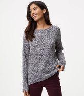 LOFT Petite Marled Boyfriend Sweater