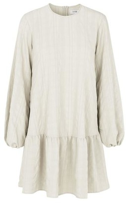 Levete Room - Lowa Waffle Checked Dress Cream - XS