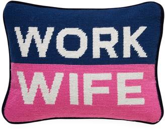 Jonathan Adler Work Wife Needlepoint Pillow