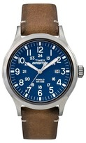 Timex Men's Expedition® Scout Watch with Leather Strap - Silver/Blue/Tan TW4B01800JT