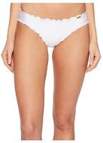 Luli Fama Cosita Buena Wavey Full Bikini Bottom (White) Women's Swimwear
